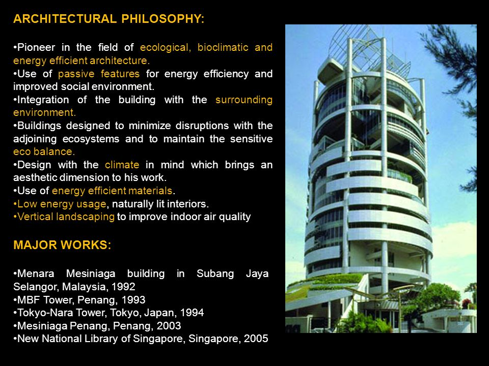 ARCHITECTURAL PHILOSOPHY: