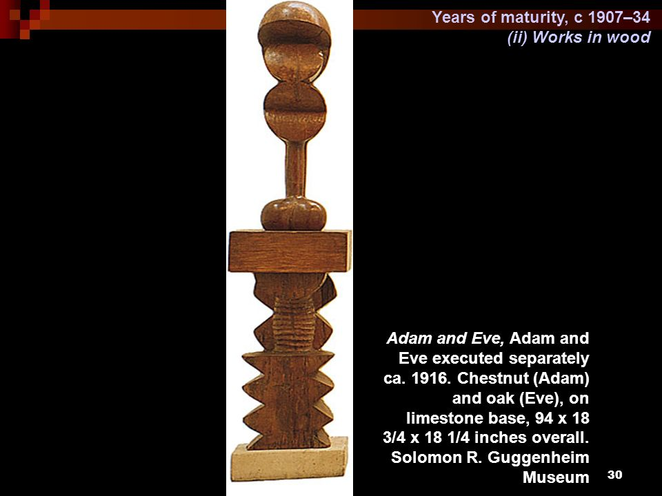 Years of maturity, c 1907–34 (ii) Works in wood.