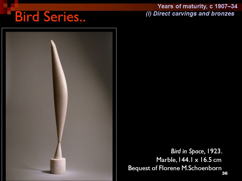 Bird Series.. Bird in Space, 1923. Marble, 144.1 x 16.5 cm