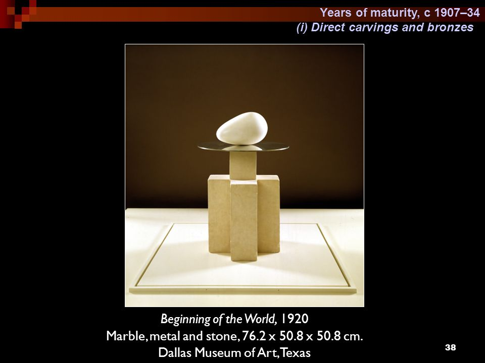 Marble, metal and stone, 76.2 x 50.8 x 50.8 cm.