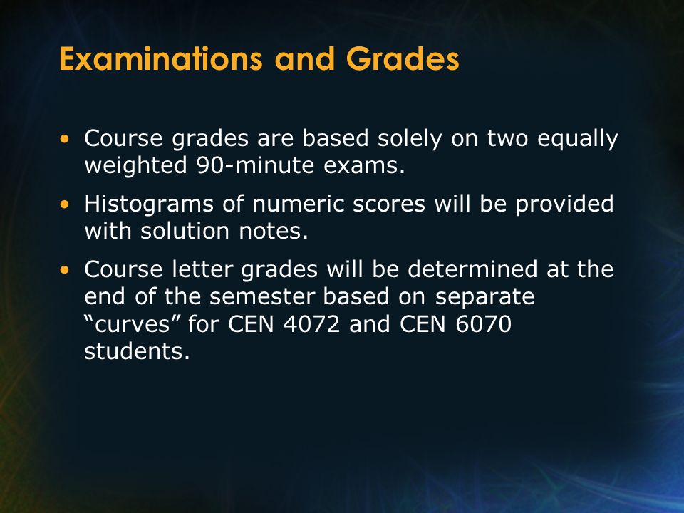 Examinations and Grades