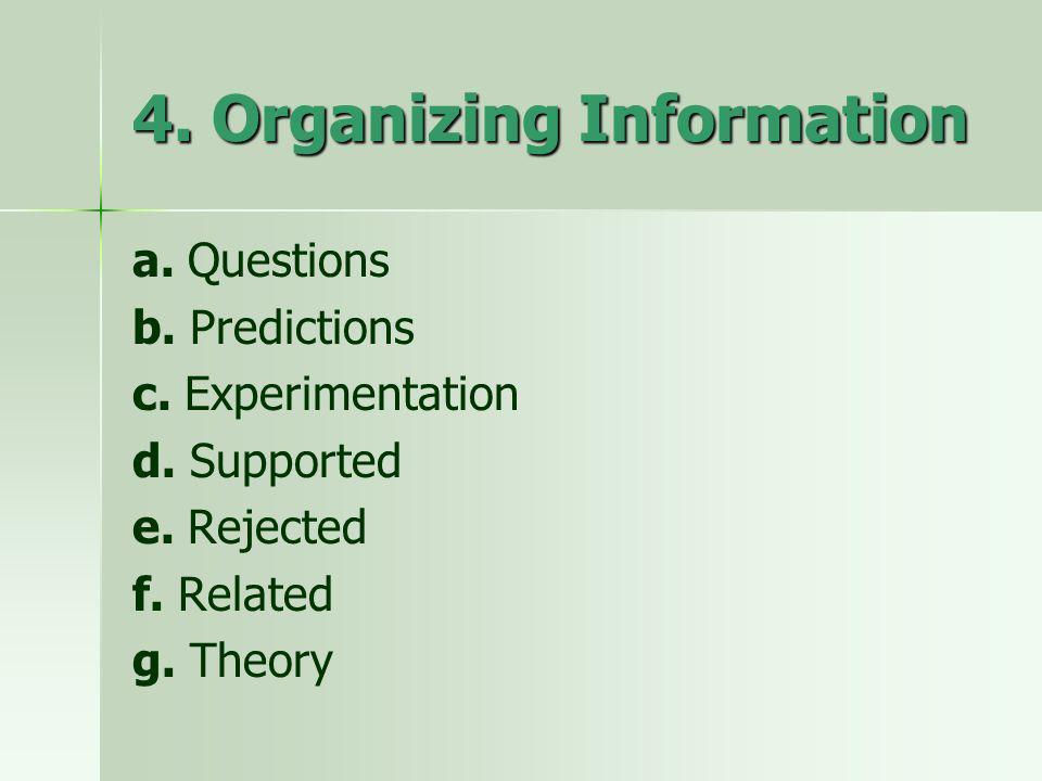 4. Organizing Information