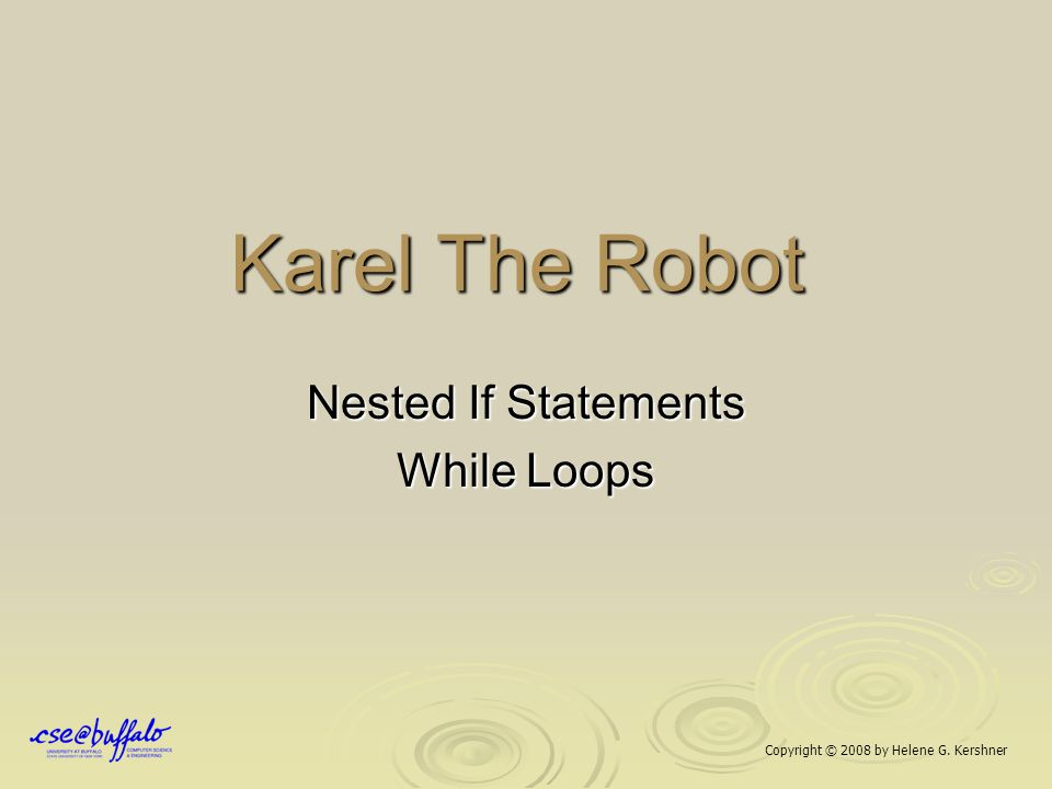 Nested If Statements While Loops