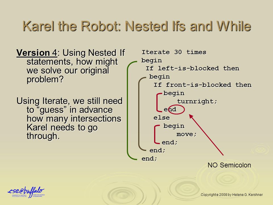 Karel the Robot: Nested Ifs and While