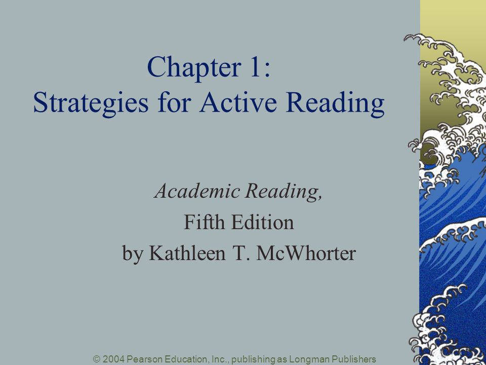 Chapter 1: Strategies for Active Reading