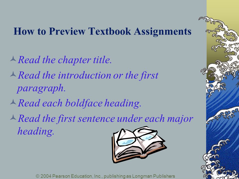 How to Preview Textbook Assignments