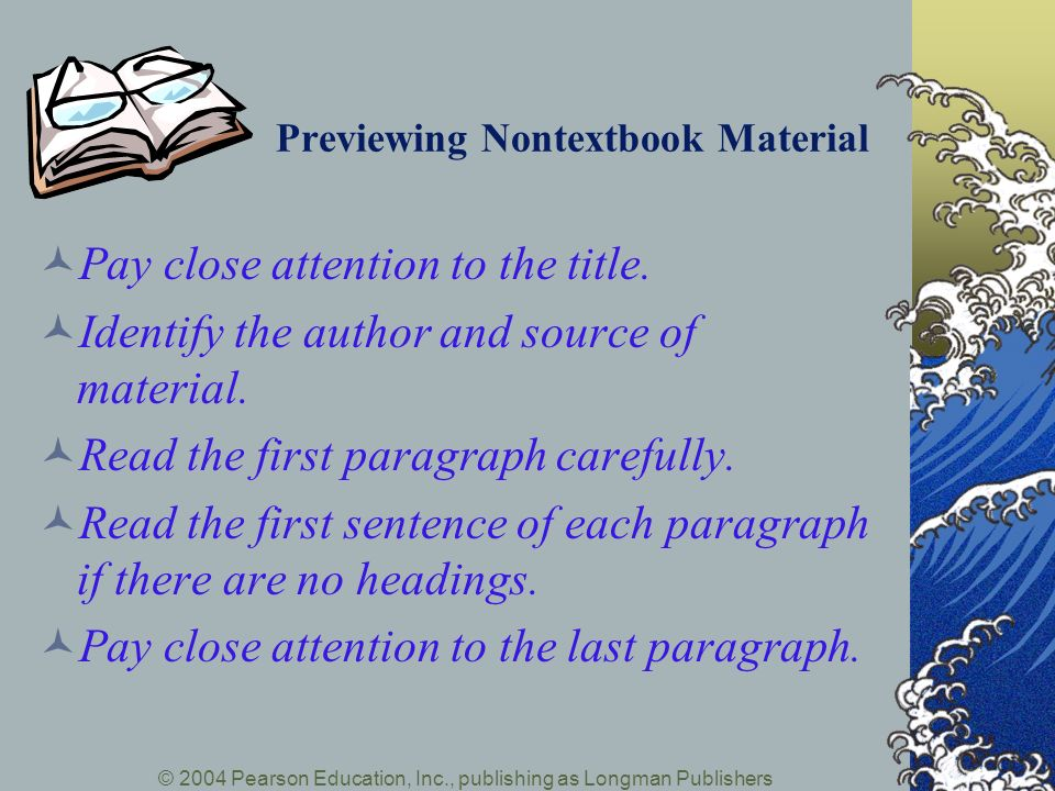 Previewing Nontextbook Material