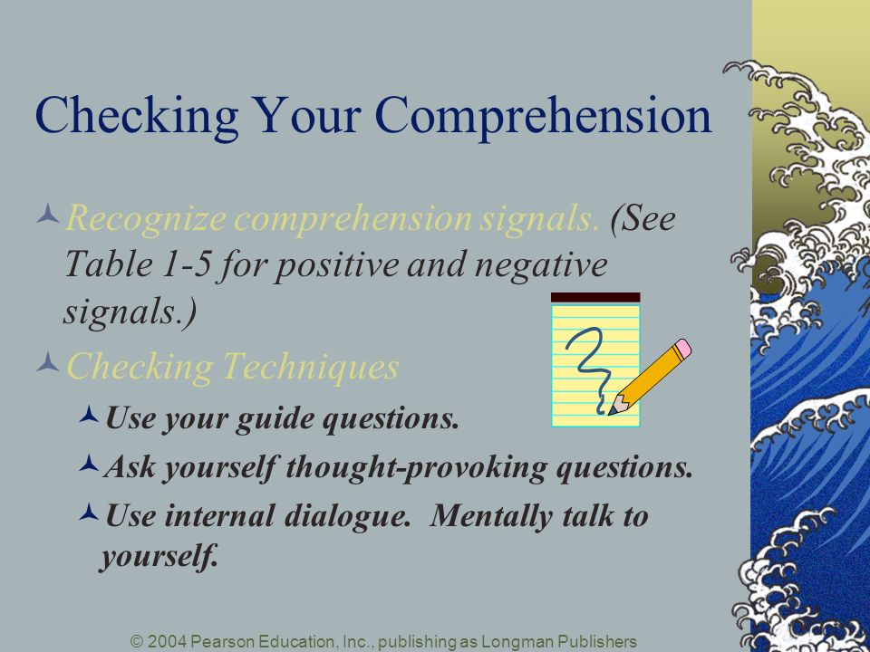 Checking Your Comprehension