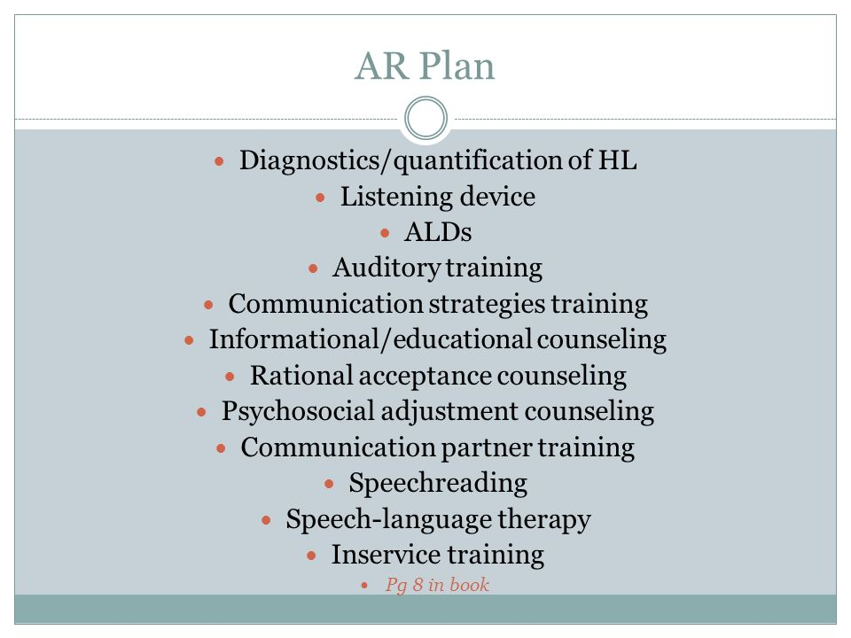 AR Plan Diagnostics/quantification of HL Listening device ALDs