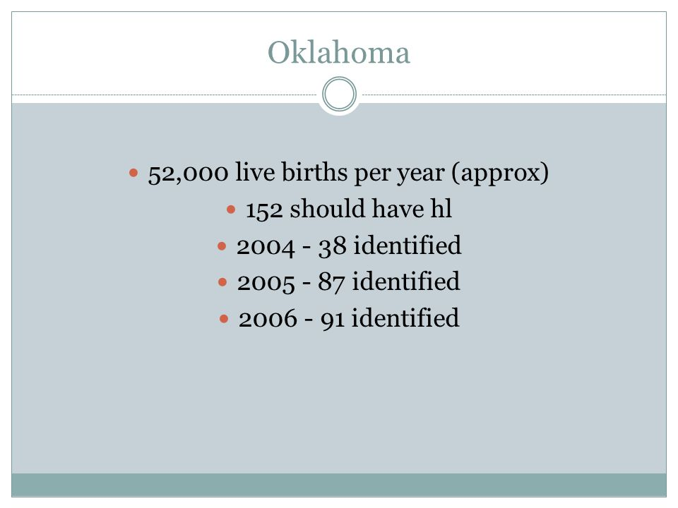 52,000 live births per year (approx)