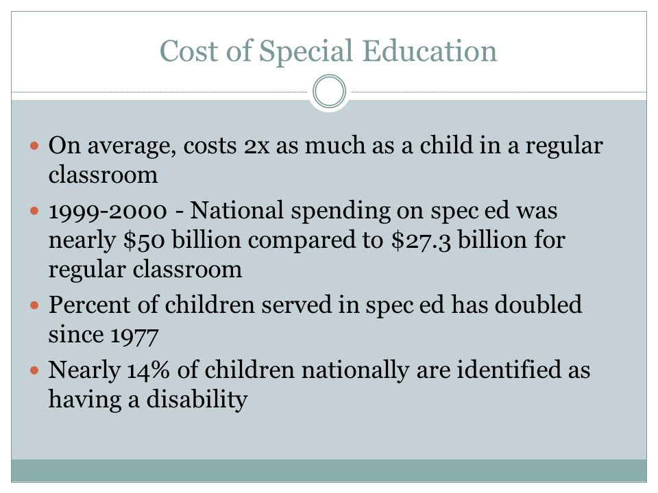 Cost of Special Education