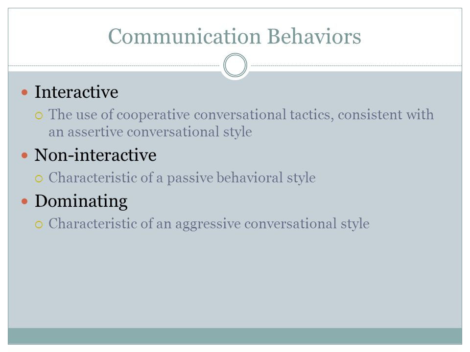 Communication Behaviors
