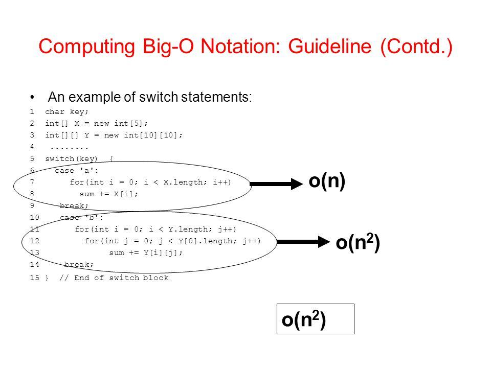 Computing Big-O Notation: Guideline (Contd.)