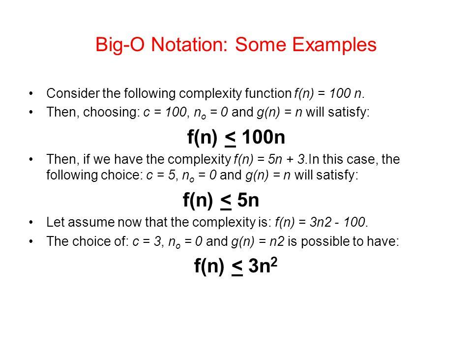 Big-O Notation: Some Examples