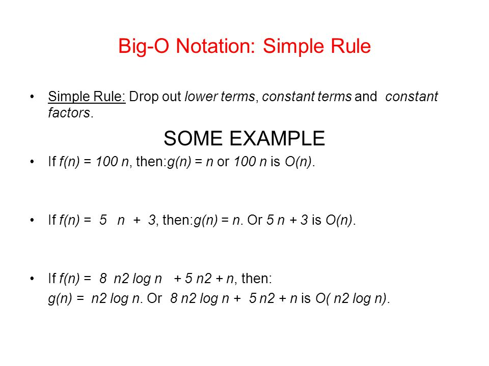 Big-O Notation: Simple Rule