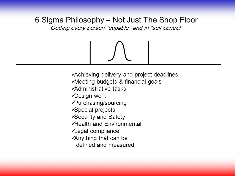 6 Sigma Philosophy – Not Just The Shop Floor