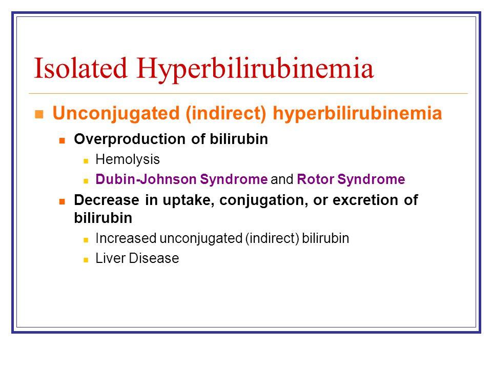 Isolated Hyperbilirubinemia