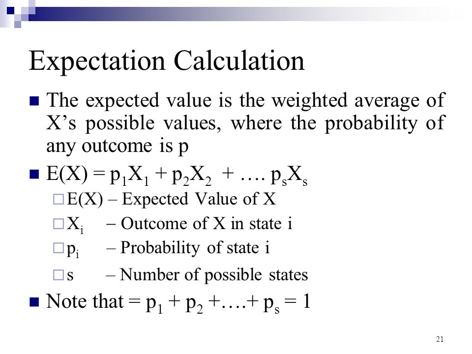 Expectation Calculation