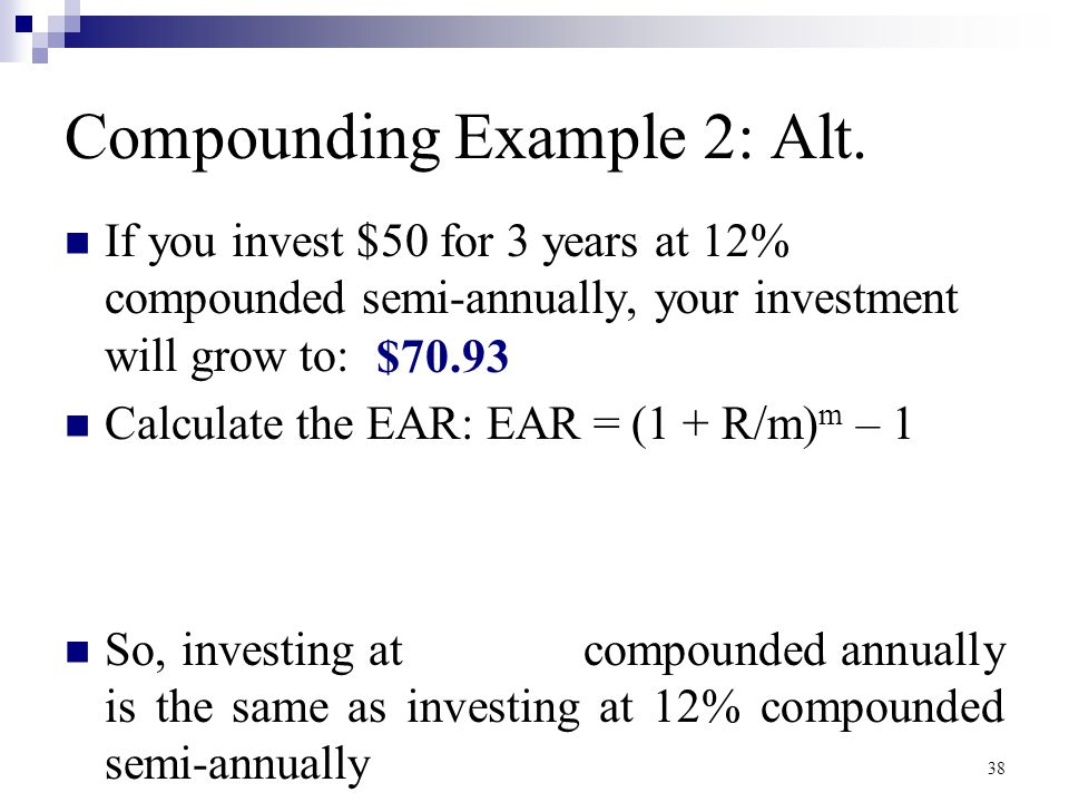 Compounding Example 2: Alt.