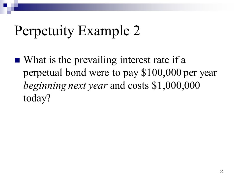 Perpetuity Example 2