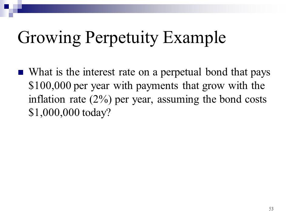 Growing Perpetuity Example