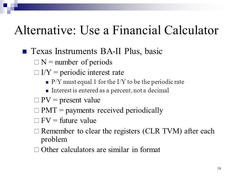 Alternative: Use a Financial Calculator