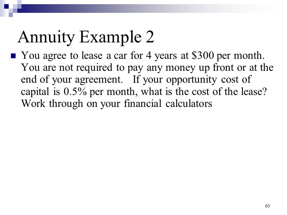 Annuity Example 2