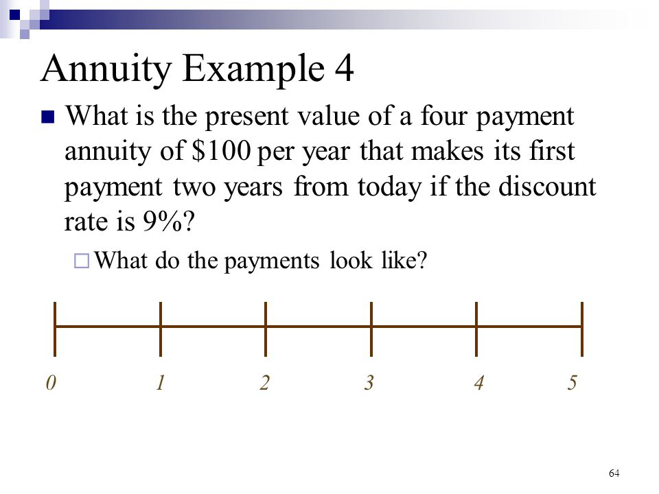 Annuity Example 4
