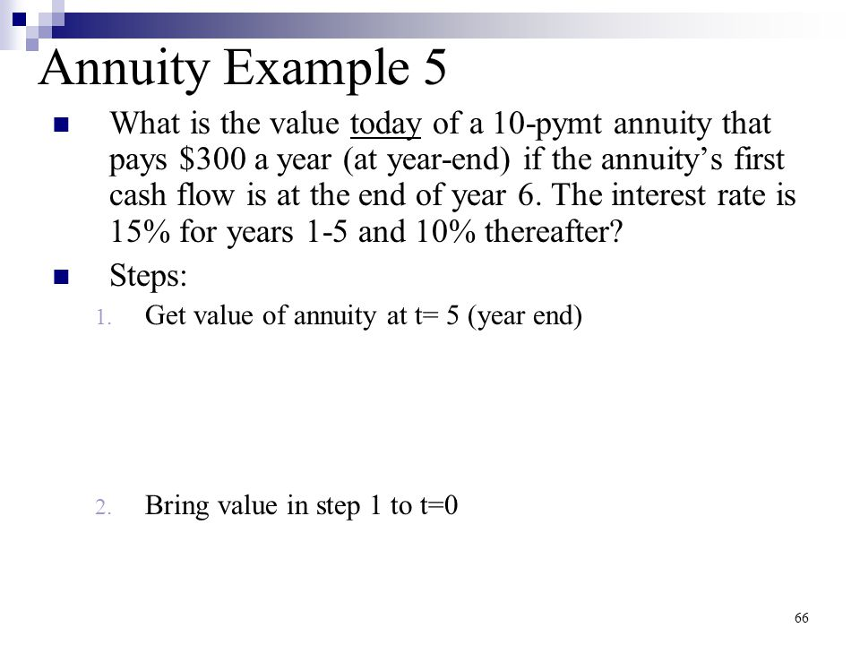 Annuity Example 5