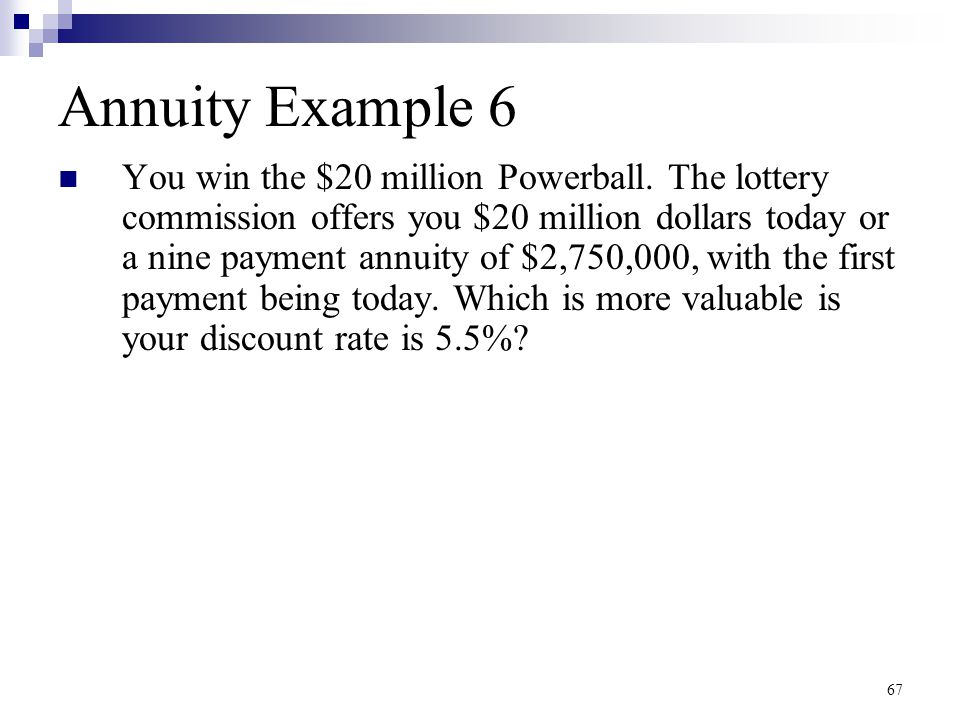 Annuity Example 6
