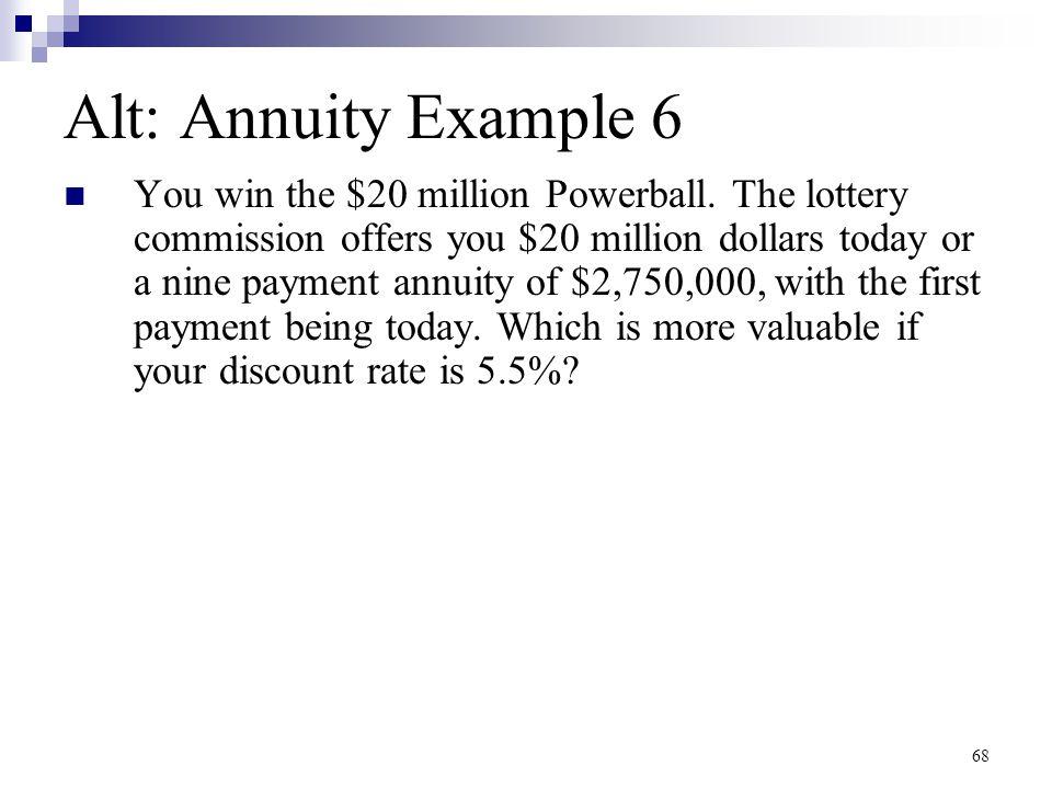Alt: Annuity Example 6