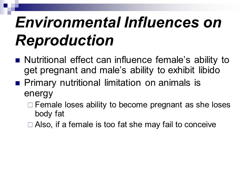 Environmental Influences on Reproduction