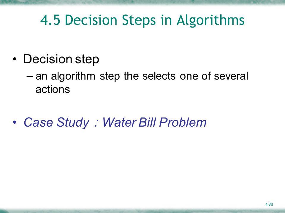 4.5 Decision Steps in Algorithms