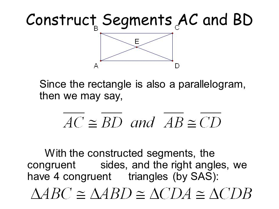 Construct Segments AC and BD