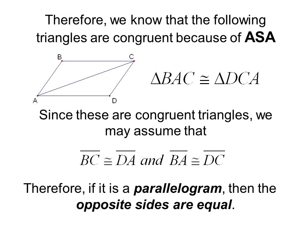 Since these are congruent triangles, we may assume that