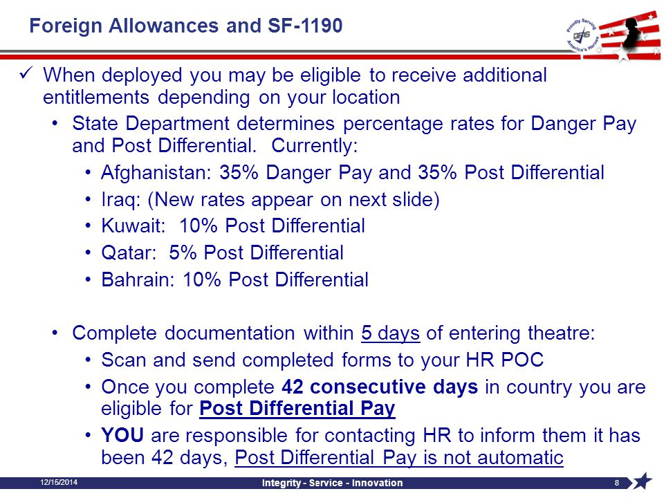Foreign Allowances and SF-1190