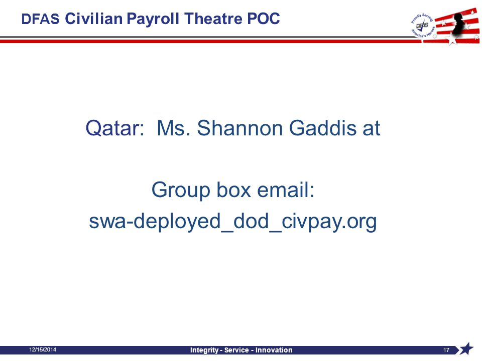 DFAS Civilian Payroll Theatre POC
