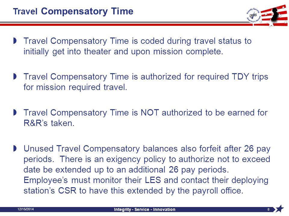 Travel Compensatory Time