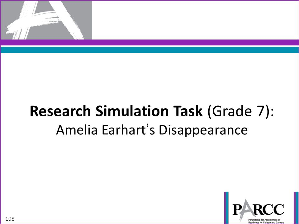 Research Simulation Task (Grade 7): Amelia Earhart's Disappearance