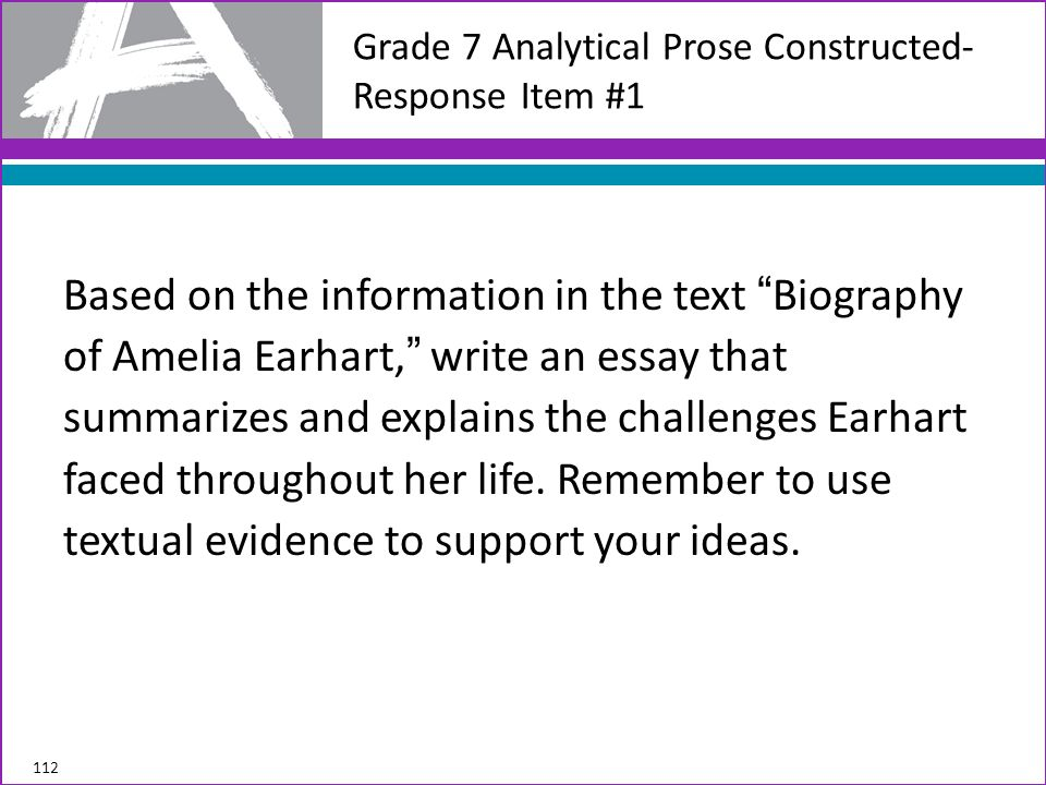Grade 7 Analytical Prose Constructed-Response Item #1