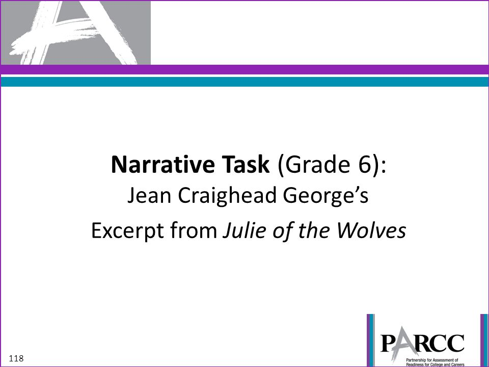 Narrative Task (Grade 6): Jean Craighead George's