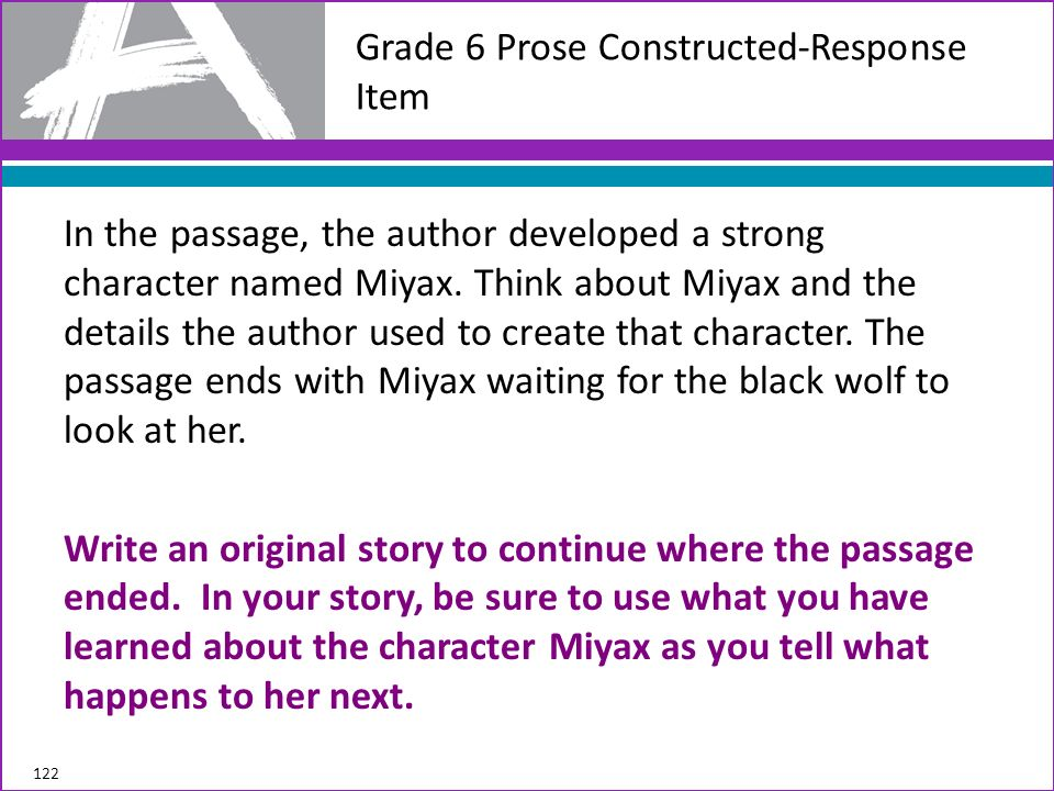 Grade 6 Prose Constructed-Response Item