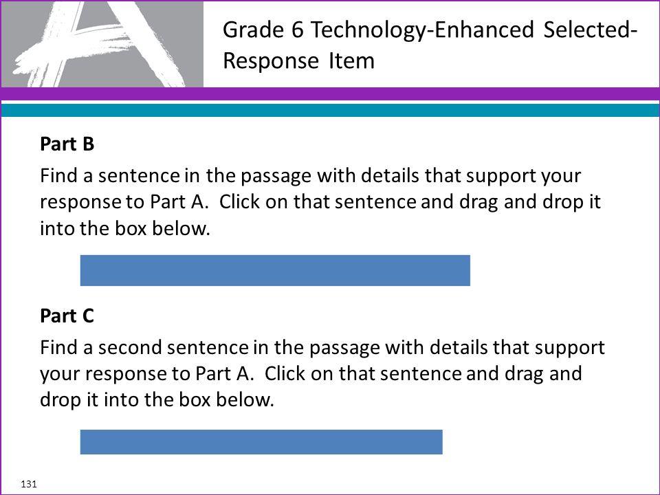 Grade 6 Technology-Enhanced Selected-Response Item