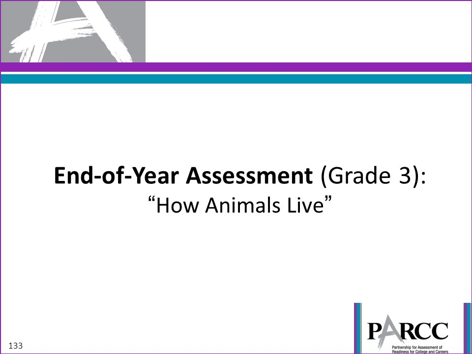 End-of-Year Assessment (Grade 3): How Animals Live
