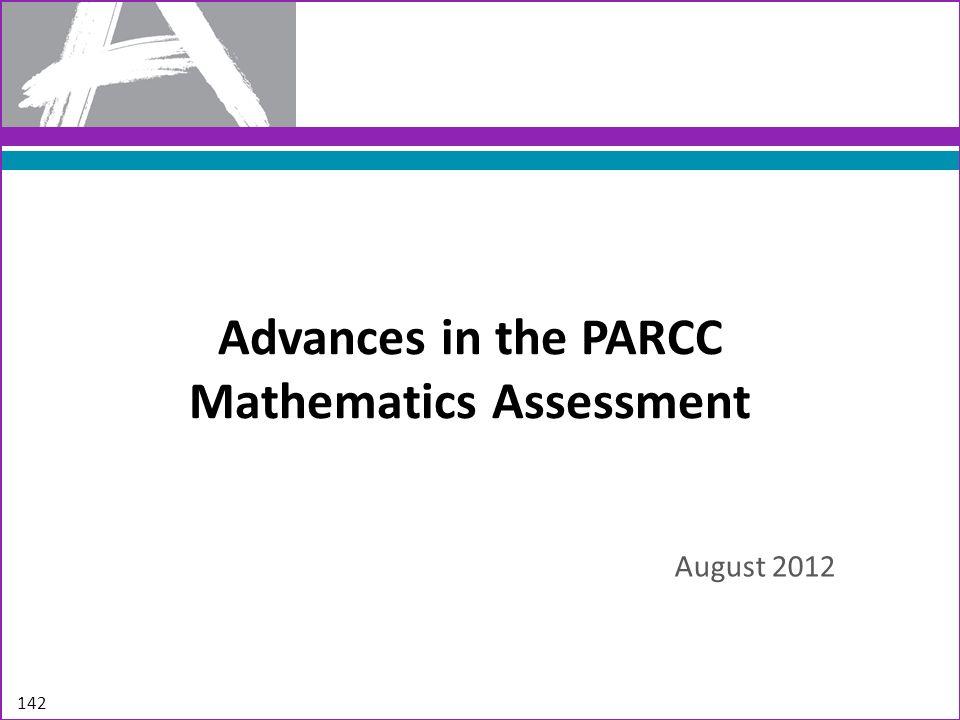 Advances in the PARCC Mathematics Assessment