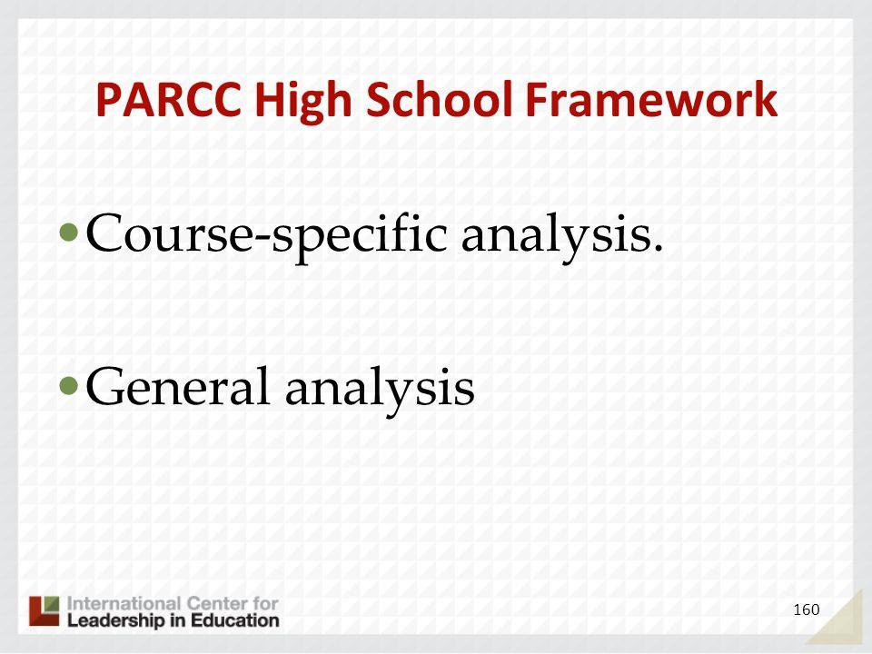 PARCC High School Framework
