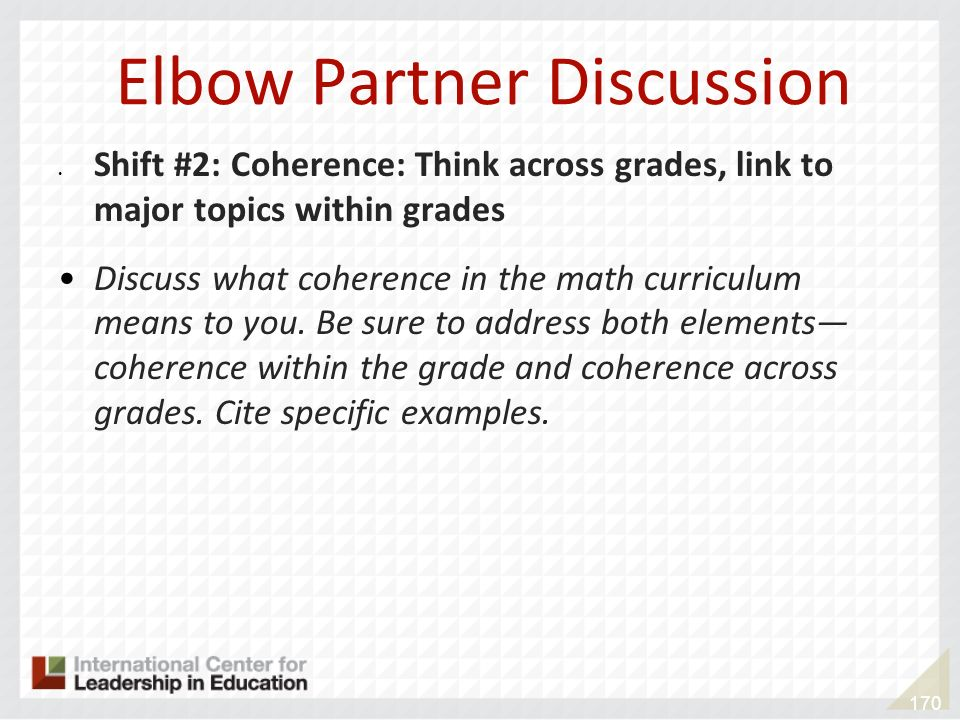 Elbow Partner Discussion