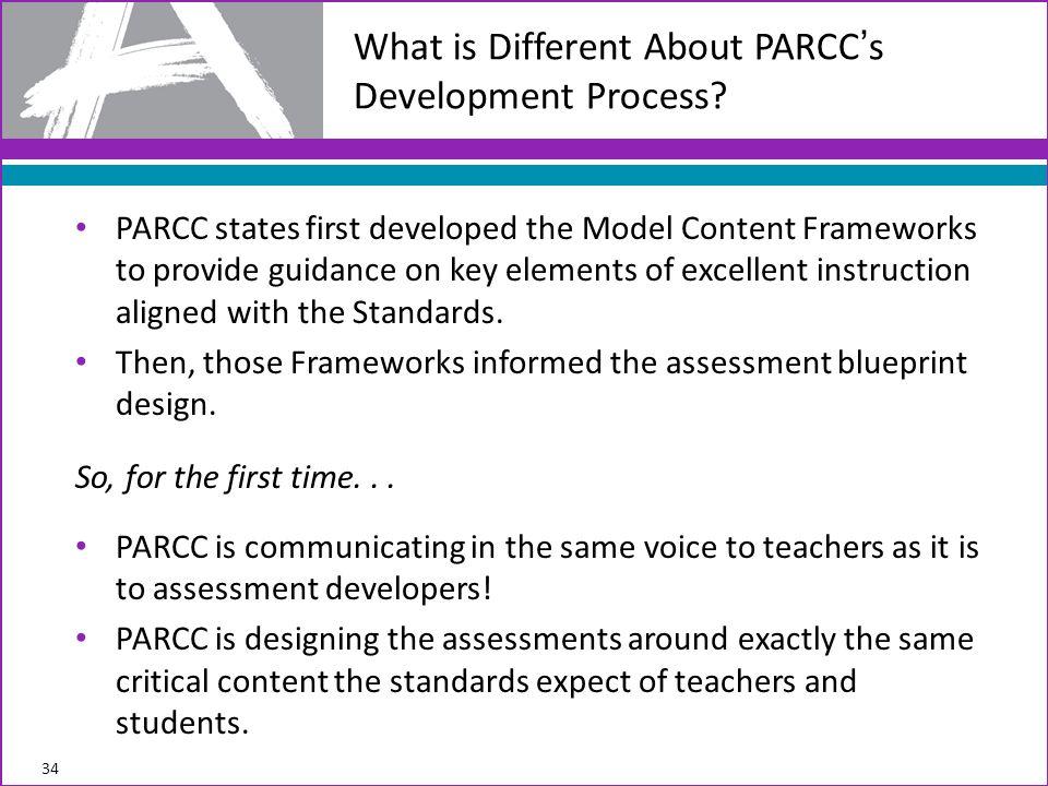 What is Different About PARCC's Development Process