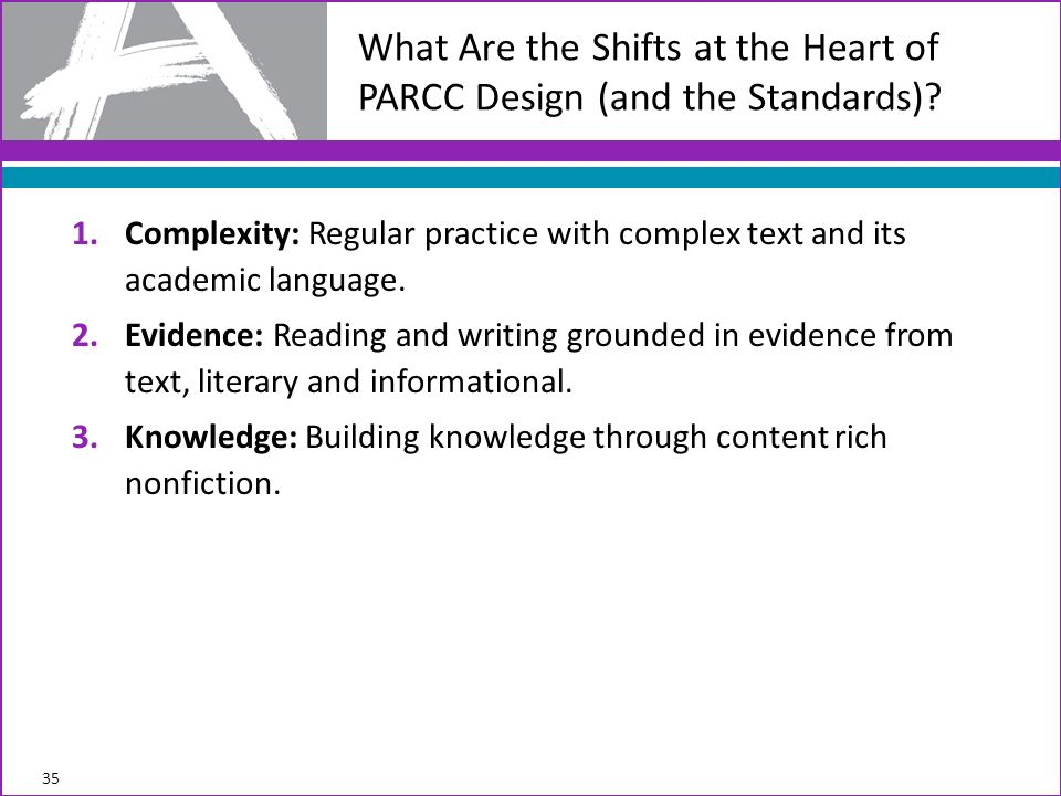 What Are the Shifts at the Heart of PARCC Design (and the Standards)