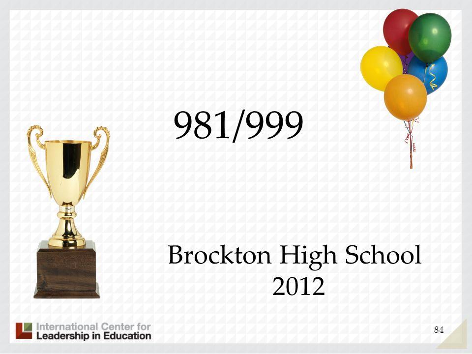 981/999 Brockton High School 2012